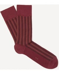 FALKE Pin Stripe Cotton Socks - Red