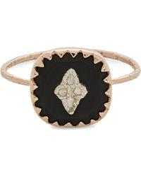 Pascale Monvoisin 9kt Rose Gold Pierrot Black Ring - Metallic