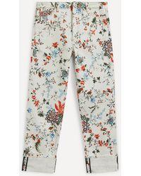 Erdem Nathaniel Floral Print Jeans - Multicolour