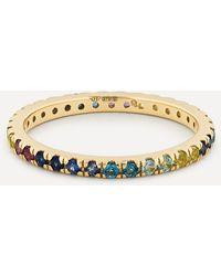Otiumberg 9ct Gold Cool Gradient Multi-stone Ring - Metallic