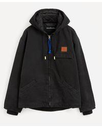 Acne Studios Face Cotton Canvas Jacket - Black