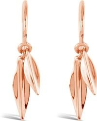 Dinny Hall - Rose Gold-plated Lotus Double Leaf Drop Earrings - Lyst