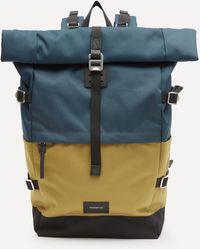 Sandqvist Bernt Two Colour Backpack - Blue
