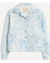 Paloma Wool Hache Boxy Cotton Jacket - Blue