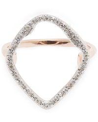 Monica Vinader Rose Gold Plated Vermeil Silver Riva Diamond Hoop Cocktail Ring - Metallic