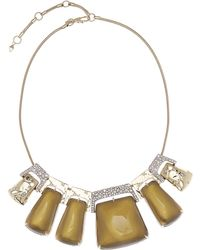 Alexis Bittar - Rocky Metal And Perspex Bib Necklace - Lyst