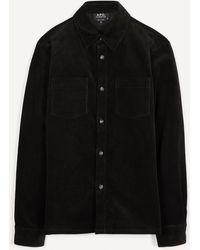 A.P.C. Joe Corduroy Overshirt - Black