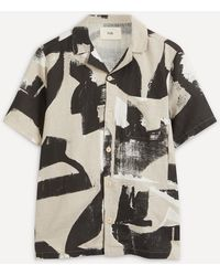 Folk Soft Collar Short-sleeved Shirt - Multicolour