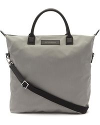 Want Les Essentiels De La Vie Ohare Nylon Tote Bag - Grey