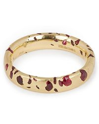 Polly Wales - Gold Ruby Confetti Ring - Lyst