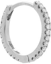 "Maria Tash - 3/8"" Diamond Continuous Eternity Earring - Lyst"