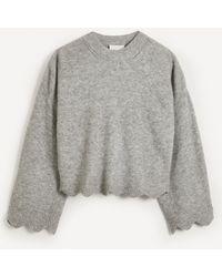 3.1 Phillip Lim Scallop Alpaca-blend Sweater - Gray