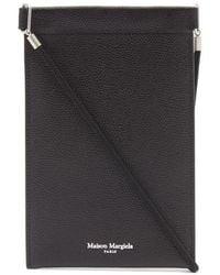Maison Margiela Grainy Leather Document Holder - Black