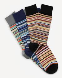 Paul Smith Multi-stripe Socks Three Pack - Multicolour
