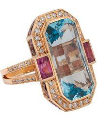 Kojis Gold Multi-stone Dress Ring - Metallic