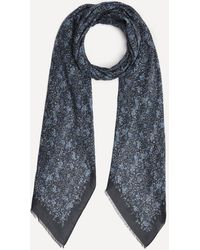 Lily and Lionel Wild Aster Modal-blend Scarf - Blue