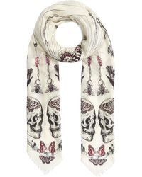 Alexander McQueen Trapped In The Bell Jar Modal-blend Scarf - White