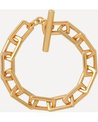 Joolz by Martha Calvo Gold-plated Square Link Chain Bracelet - Metallic