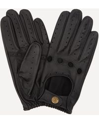 i-smalls Mens Premium Quality 100/% Leather Driving Gloves in Black with Stud Wrist Strap