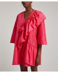 Stine Goya Marina Frill Mini-dress - Red