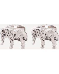 Paul Smith Elephant Cufflinks - Metallic