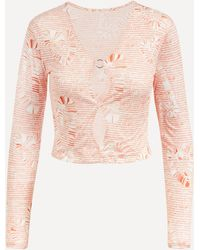 Paloma Wool Forever Cut-out Crop Top - Multicolour