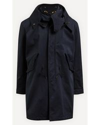 C.P. Company Long Hooded Parka Coat - Blue