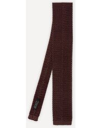 Nick Bronson Silk Knitted Tie - Purple