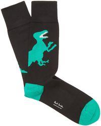 Paul Smith Dinosaur Socks - Black