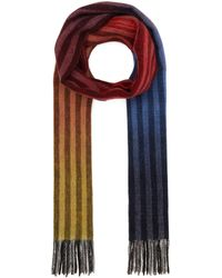 Paul Smith Gradient Stripe Wool And Cashmere-blend Scarf - Multicolour