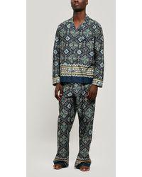 Liberty Chatsworth Tana Lawntm Cotton Long Pajama Set - Blue