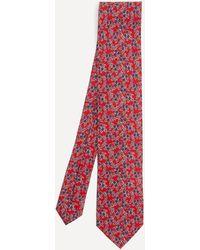 Liberty Oakgrove Printed Silk Tie - Red