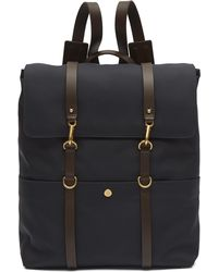 Mismo Double Strap Canvas Backpack - Blue