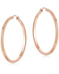 Astley Clarke Rose Gold Vermeil Large Linia Hoop Earrings - Metallic