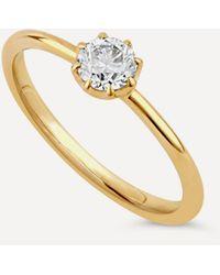 Dinny Hall Gold Ellie Diamond Solitaire Ring - Metallic
