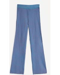 Paloma Wool Fromthe Rib Knit Trousers - Blue