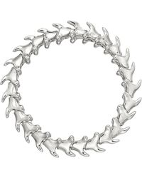 Shaun Leane - Silver Serpents Trace Wide Bracelet - Lyst