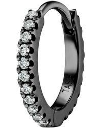 "Maria Tash 5/16"" Diamond Eternity Hoop Earring - Black"
