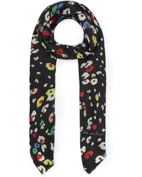 Lily and Lionel - Multi Animal Silk Scarf - Lyst