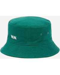 WOOD WOOD Ossian Twill Bucket Hat - Green