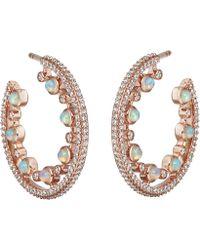 Astley Clarke - Rose Gold Icon Nova Large Opal Hoop Earrings - Lyst