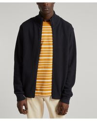 PS by Paul Smith Pinstripe Zip-up Cardigan - Multicolour