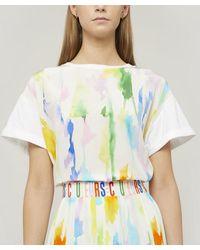 Être Cécile - Paint Print Silk Panel T-shirt - Lyst