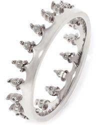 Annoushka Crown 18ct White Gold Ring - Metallic