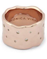 Monica Vinader Silver Siren White Topaz Scatter Ring - Multicolour