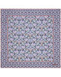 Liberty Alicia 70 X 70cm Silk Twill Scarf - Blue