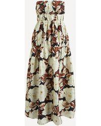 Sir. The Label Vivienne Strapless Maxi-dress - Multicolour