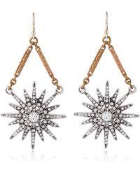 Lulu Frost - Gold-tone Radiant Drop Earrings - Lyst