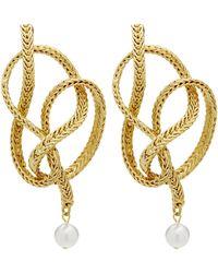 Oscar de la Renta Braided Chain Earrings - Metallic