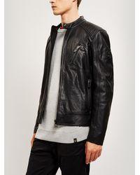 3a5276b38 Belstaff Maxford 2.0 Jacket, Brown Leather Blouson Jacket in Brown ...